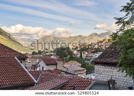 Old Town Kotor rooftops view, Montenegro