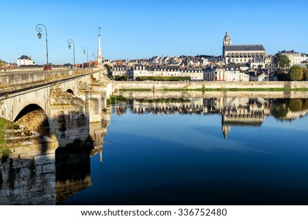 Old town of Blois in the Loire Valley, France