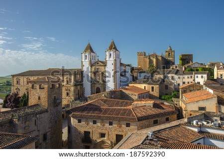 Old town of Caceras, Spain  - stock photo