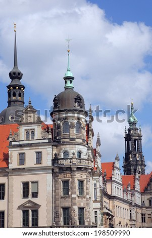 old town of Dresden, Germany - stock photo
