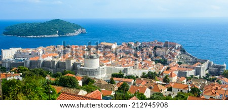 Old town of Dubrovnik, UNESCO World Heritage site of Croatia.