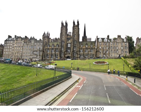 Old town of Edinburgh, Scotland, - stock photo