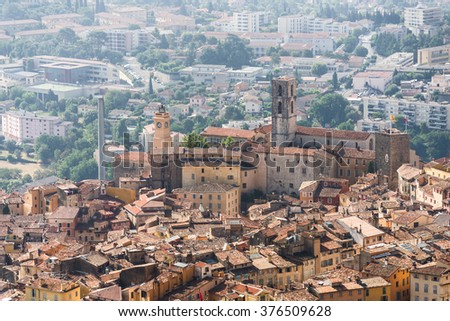 Old town of Grasse, town in Provence famous for its perfume industry, France - stock photo