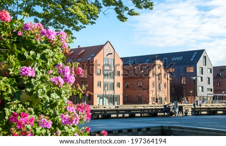 Old town of Klaipeda. Lithuania - stock photo
