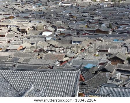 Old Town of Lijiang, Yunnan, China - stock photo