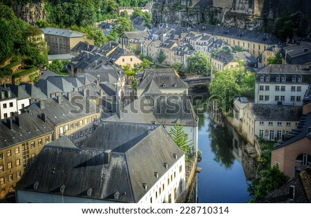 old town of Luxembourg, Europe - stock photo