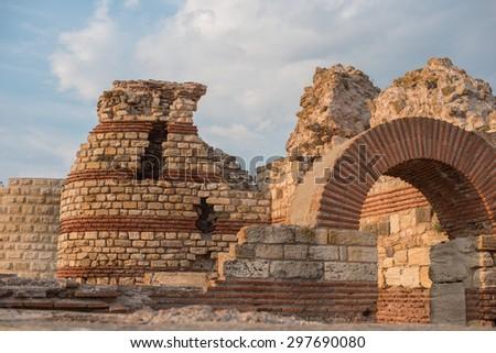 Old town of Nesebar, Bulgaria - stock photo