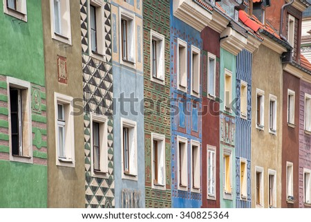 Old town of Poznan - stock photo
