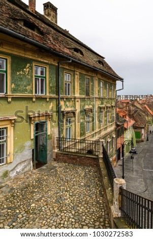 Old town of Sibiu, one of the most important cultural centres of Romania