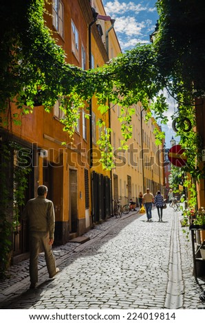 Old town of Stockholm - stock photo