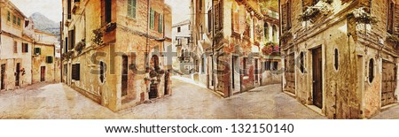 old town, panorama - stock photo