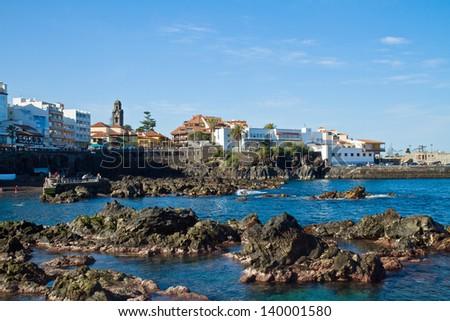 old town, Puerto de la Cruz, Tenerife, Spain - stock photo