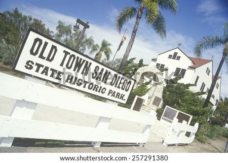 Old Town San Diego State Historic Park, San Diego, California - stock photo
