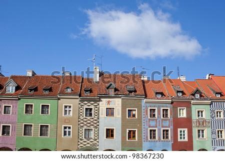 Old Town Square in Poznan, Poland - stock photo
