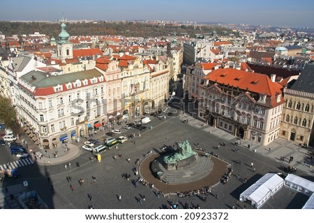 Old Town Square in the center of Prague