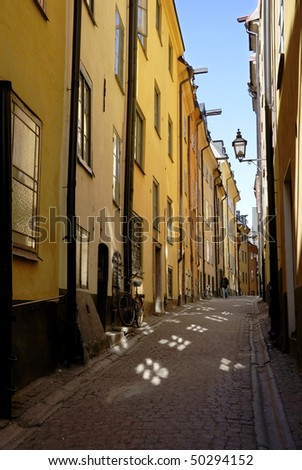 Old town, Stockholm - stock photo