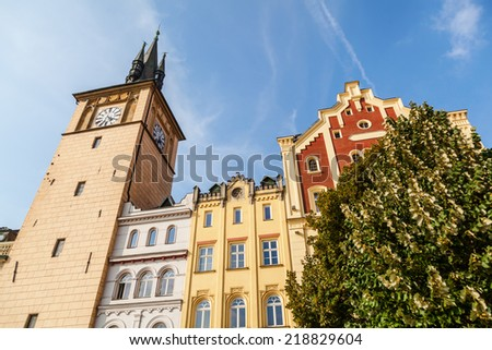 old town water tower in Prague, Czechia - stock photo