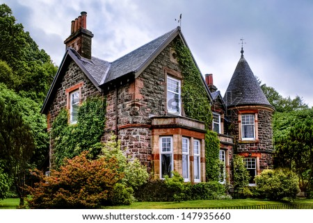 old townhouse of oban - stock photo