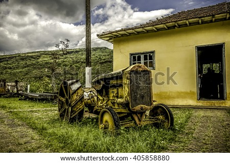 Old Tractor in Mariana, Minas Gerais, Brazil