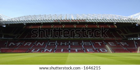 Old Trafford stadium, home of Manchester United Football Club - stock photo