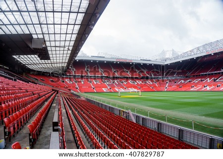 Old Trafford stadium, home of Manchester United Football Club - 07th April 2016