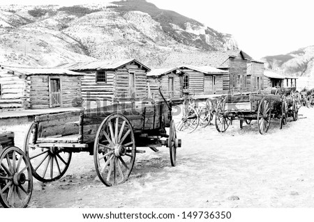 Old trail town, Cody, Wyoming - stock photo