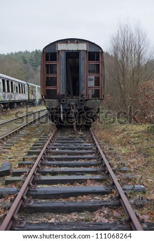 old train in sidings - stock photo