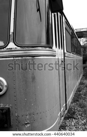 Old train railway - stock photo
