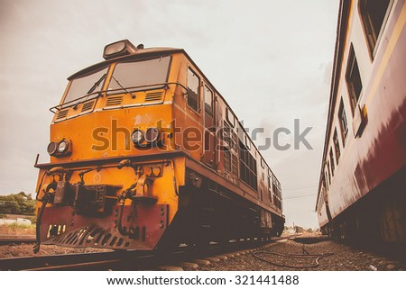 Old Train transport of Thailand