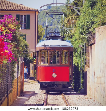 Old Tram in Soller on Mallorca, Balearic Islands, Spain