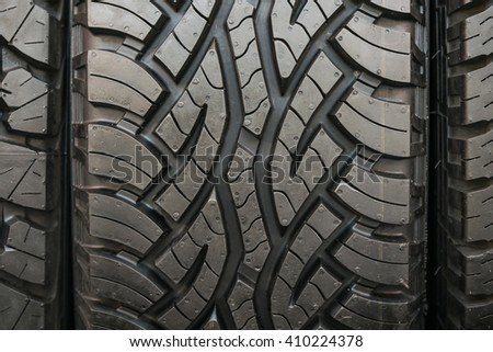 Old truck tire texture background - stock photo