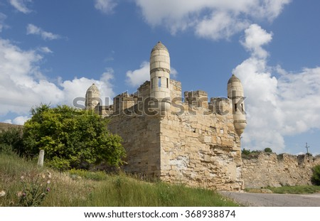 Old turkish fortress Yeni-Kale in Kerch, Crimea, - stock photo