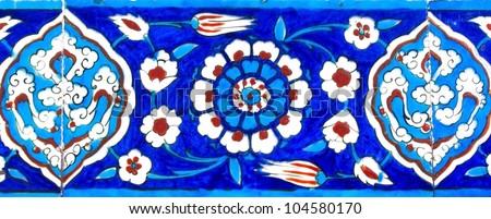 Old Turkish Tile - stock photo