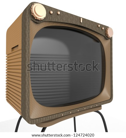 old tv close up - stock photo
