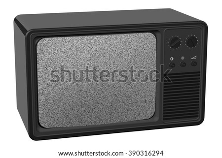 Old tv, isolated on white background.