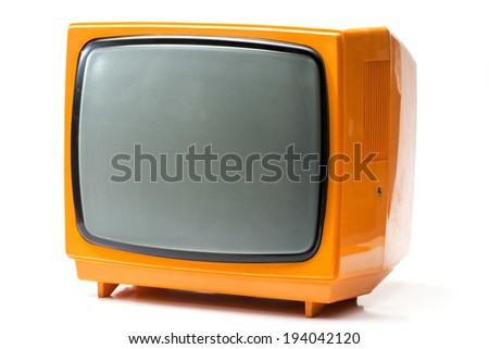 Old TV, selective focus. - stock photo
