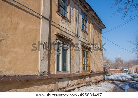 Old two-storeyed apartment house, Russia