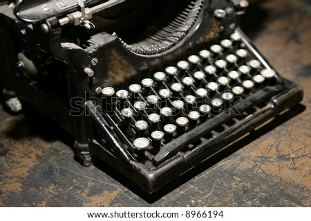 old typewriter - stock photo