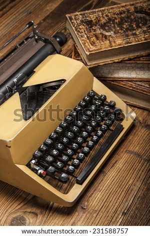 old typewriter, a pile of books and a lot of creativity!