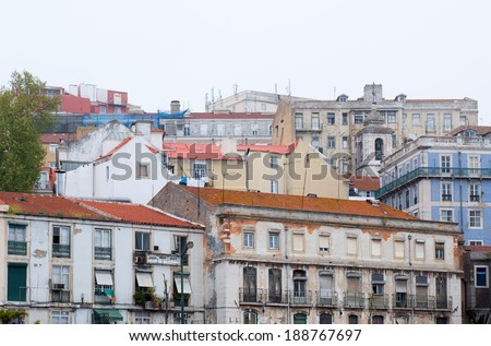 Old typical buildings in Lisboa, Portugal