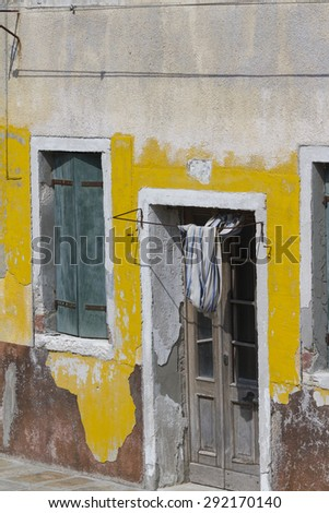 old typical houses - stock photo