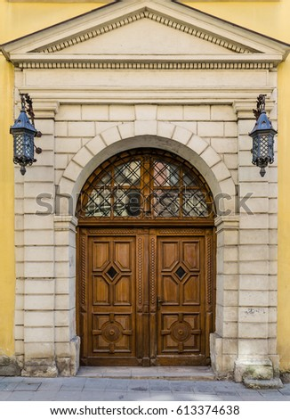 Old unique doors in the old city part of Europe & Neo Gothic Style Cathedral Night Lviv Stock Photo 543193522 ... pezcame.com