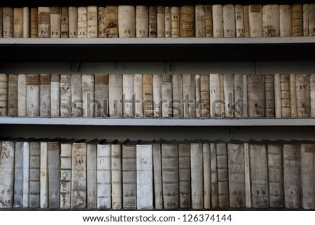 Old university library in Prague, Czech Republic - stock photo
