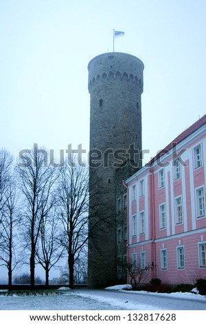 Old upper town in the center of the Estonian capital - stock photo
