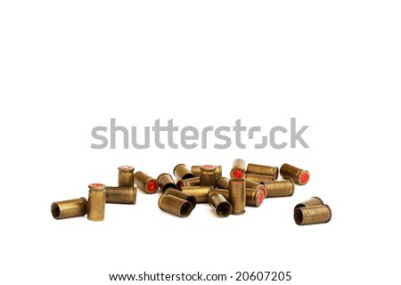 Old used bullets (isolated)