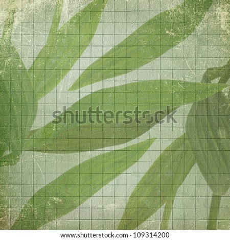 Old used paper background with cell ornamental for announcement - stock photo