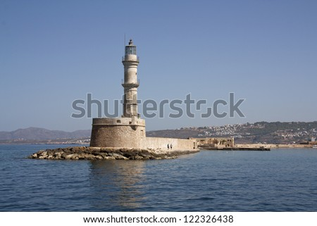 Old Venetian Lighthouse in Chania, Crete