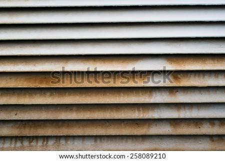 Old vent doors - stock photo