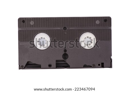 Old vhs video cassette - stock photo