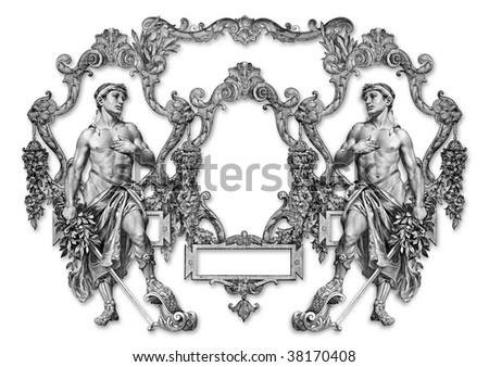 Old Victorian Frame And Two Man